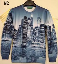 City High Rise 3D Print Unisex Sweatshirts