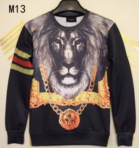 3D Lion King Print Unisex Sweater