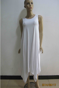 Explosion Women Sleeveless Night White Dress