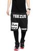 Yeezus Unisex Streets Gym Shorts - Black