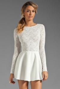 Avery White Longsleeves Dress