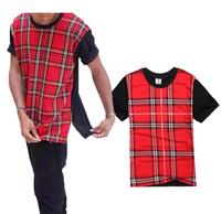 Kanye West Plaid Side Zipper T-Shirts