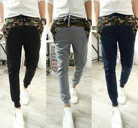 Military Camouflage Slim Fit Patchwork Joggers Sweatpant