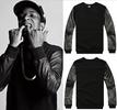 Khalifa Leather Sleeves Sweatshirt