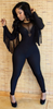 The Wingy Black Bandage Women Rompers