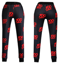 100 Emoji Limited Edition Joggers Sweatpants - Black