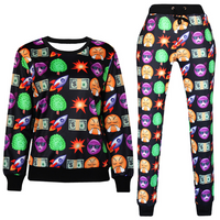 Emoji Joggers Sweatpant  and Sweatshirt - Set