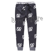 BrytCouture Limited Edition 100 Emoji Joggers Black