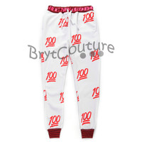 BrytCouture Limited Edition 100 Emoji Joggers Red
