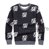 BrytCouture Limited Edition 100 Emoji Sweatshirt Black