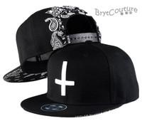 Hip Hop Cross Embroidery Bandana Snap Back Hat