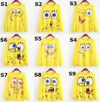 SpongeBob Cartoon Characters Pullover Sweatshirts