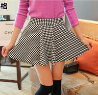 Black and White Mini Skater's Skirt