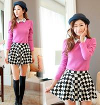 Black and White Dot Mini Skater's Skirt