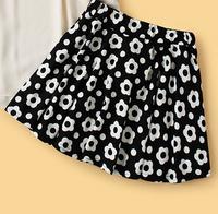 Black and White Mini Skater Skirt