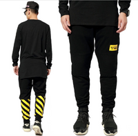 BrytCouture Yellow Stripe Casual Men's Hip Hop Pants