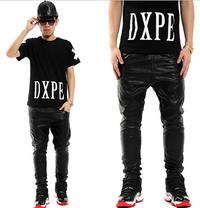 BrytCouture Gold Side Zipper Men Hip Hop PU Leather Pants