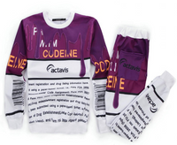 BrytCouture Limited Edition Actavis Codeine Syrup Joggers & Sweatshirt Set - White