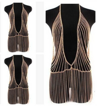 BrytCouture Multilayer Tassel Gold Plated Body Chain