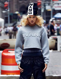 Limited Edition 3D WANG Embroidery Long Sleeves Crop Top
