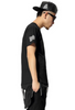 European Style West Side Paisley Bandana Extended Hip Hop T-Shirt  Black