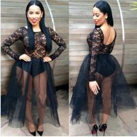 Princess Long Sleeves Black Lace Detail Dress