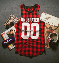 Hip Hop Bandana Underated 00 Plaid Unisex Streetwear Vest