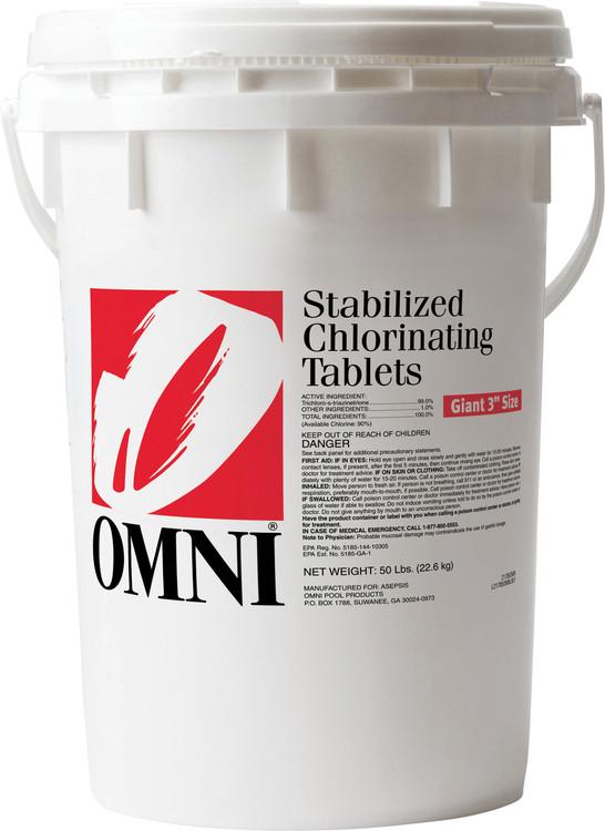 Omni Large Chlorinating Tabs - 50 lb