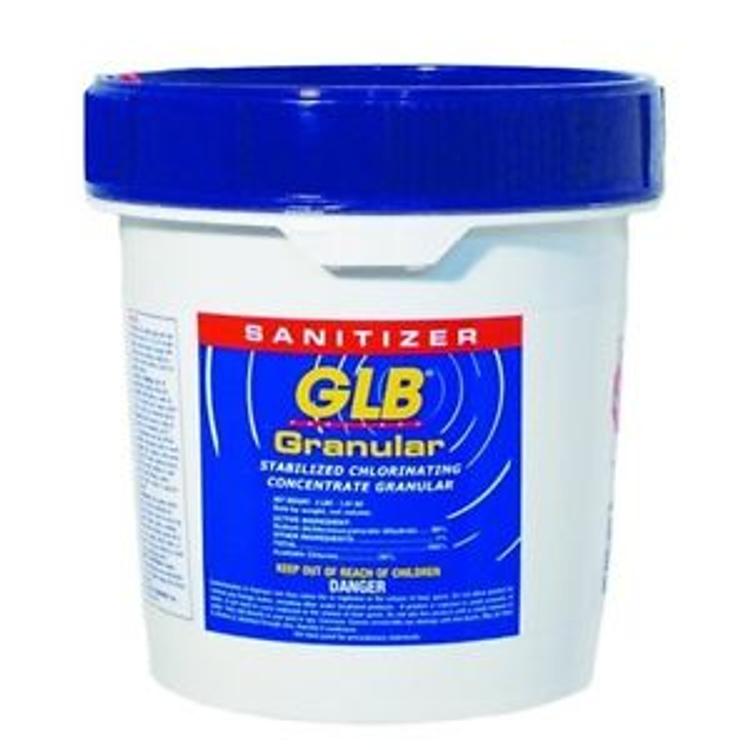 GLB® Granular Dichlor stabilized chlorine -  8 lb