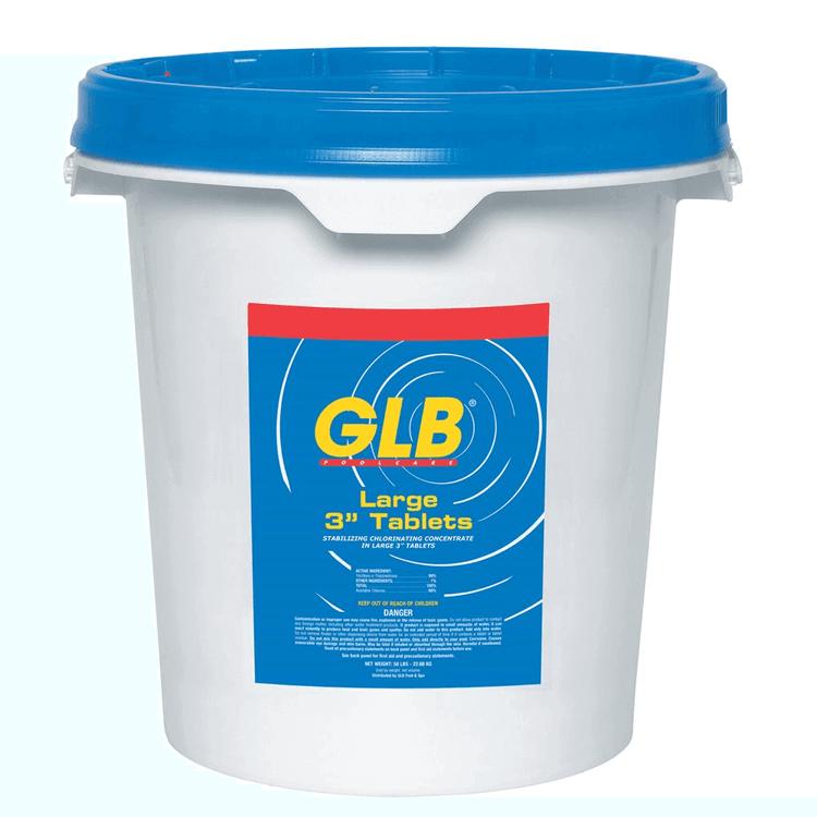 """GLB® Large 3"""" Stabilized Chlorine Tablets - 50 lb"""