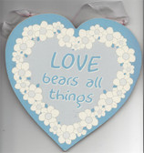 Used Love Bears All Things Heart Wall Plaque