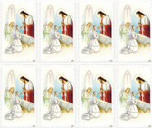 Custom Print Lace Effect First Communion Holy Cards--Girl with Jesus(custom print 8 cards)