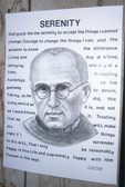 Saint Maximilian Kolbe and Serenity Prayer--Reproduction for Framing