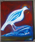 "The Day After Creation: Holy Spirit at Rest Original Acrylic Painting, 16"" x 20"", artist Joseph Matose IV"