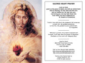 Sacred Heart Prayer and Modern Image of Sacred Heart Prayer Card