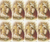 Custom Print First Communion Jesus, Angels, and Girl Holy Cards (Custom set of 8)