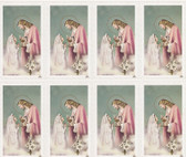 Custom Print Jesus with Girl and Lily First Communion Holy Cards (Custom set of 8)