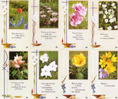 Custom Print Scripture Verse Flower Prayer Cards (Custom set of 8)