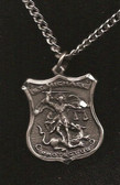 Pewter Saint Michael Badge Pendant 3