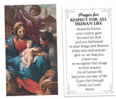 Prayer for Respect for all Human Life Card
