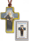 Saint Benedict Protector Cross on Cord with prayer