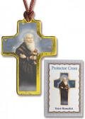 Saint Benedict Protector Cross on Cord with prayer