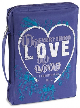 Love Bible or Breviary Cover in Blue