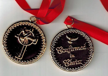 Confirmation Medallion on Red cord