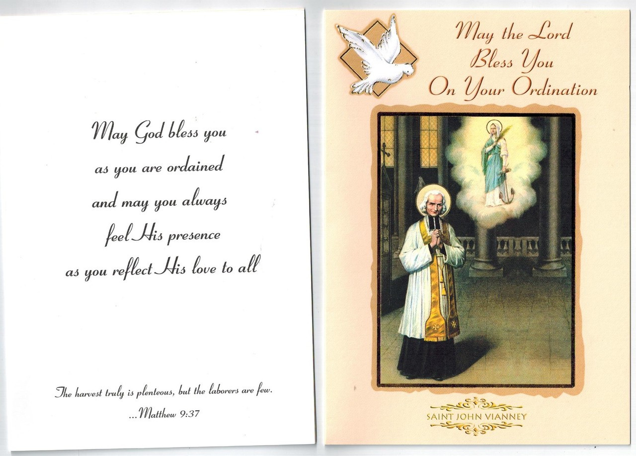 May The Lord Bless You On Your Ordination Greeting Card Envelope