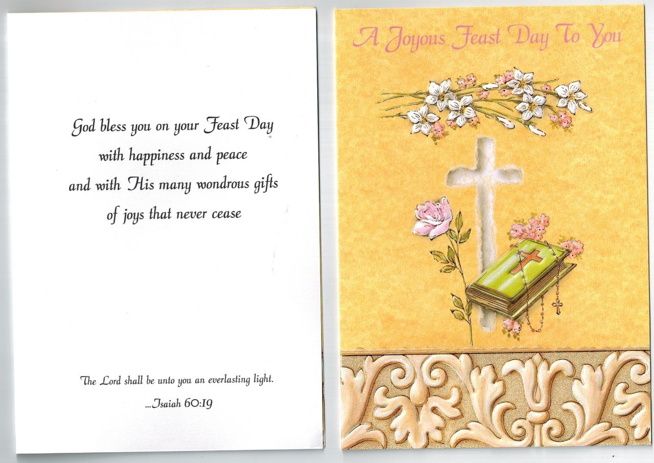 Joyous feast day greeting card suitable for saints day ordination feast day card m4hsunfo