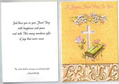 Joyous feast day greeting card suitable for saints day ordination joyous feast day greeting card m4hsunfo