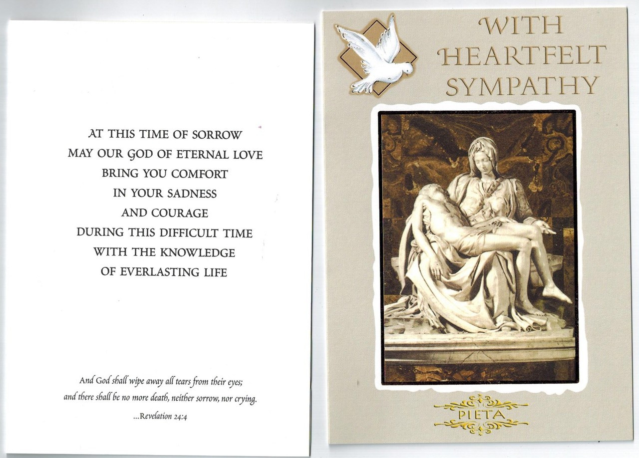 Catholic sympathy card envelope included free shipping larger more photos m4hsunfo