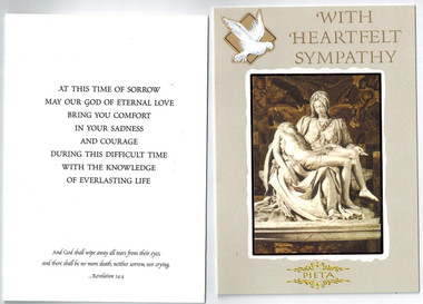 Catholic sympathy card envelope included free shipping sympathy greeting card with catholic message m4hsunfo Choice Image