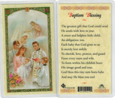 Baptism Child Baptism Blessing Laminated prayer card